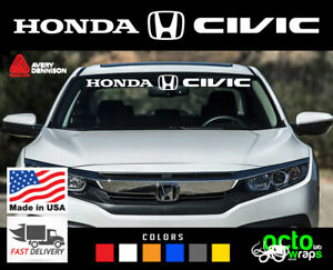 Fits Honda Civic Si Type R Hatchback Windshield Decal Sticker Emblem Accessories