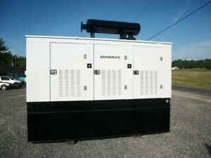 250 Kw Generac Diesel Generator Enclosed With Base Tank trailer Mounted