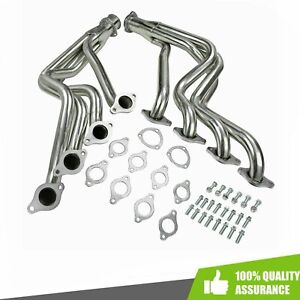Silver Coated Heavy Duty Exhaust Headers Fits 1968 1972 Big Block Chevy Chevelle