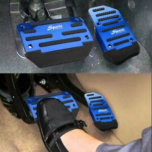 Universal Non slip Automatic Gas Brake Foot Pedal Pad Cover Blue Accessories Kit