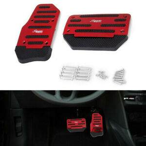 Universal Automatic Red Non Slip Pedal Brake Foot Treadle Cover Accessories Kit