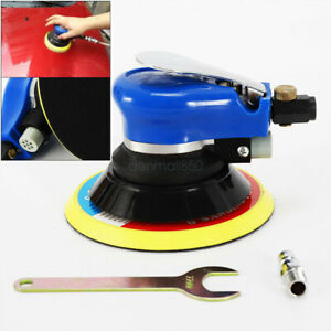 6 Air Palm Random Orbital Sander Pneumatic Polisher Hand Sanding Round Buffing
