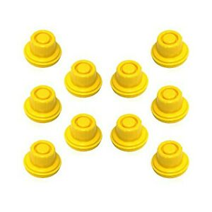 Kool Products 10 Pack Replacement Yellow Spout Cap Top For Blitz Fuel Gas Can