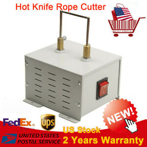 Heavy Duty Hot Knife Bench Rope Cutter Braiding Cutting Machine Tool 110v Usa