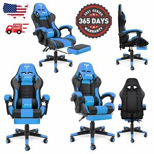 Furgle Gaming Chair Office Executive Chair Pu Leather Racing Recliner Seat Red