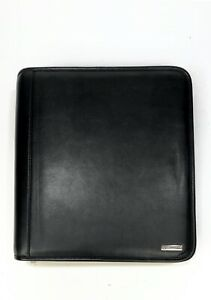 Franklin Covey Monarch Midtown Genuine Leather 7ring Binder Black Pagefinder