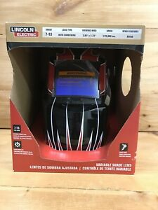 Mig tig Lincoln Electric Hood Auto Dark Welding Helmet Lens Shade 7 13 New