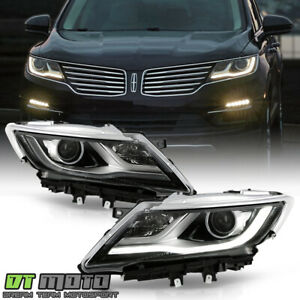 2015 2019 Lincoln Mkc Hid xenon Factory Led Drl Projector Headlights Headlamps