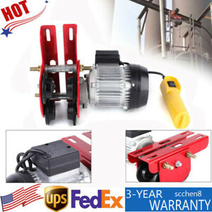 200w 0 5t Electric Hoist Trolley 4ft Lifting I beam Links For Material Handling
