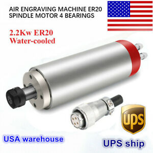 Cnc Four Bearing 2 2kw Er20 Water cooled Spindle Motor Engraving Mill Grind