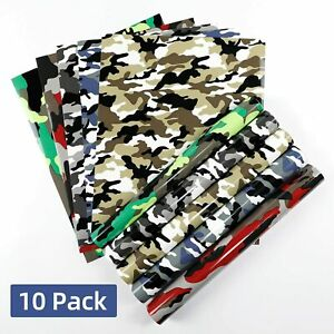 Camo Htv Heat Transfer Vinyl Bundle 10 Pack 12 X 10 Sheets Iron On Vinyl