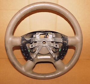 2003 2006 Ford Explorer Expedition Steering Wheel Tan Leather Oem W Controls