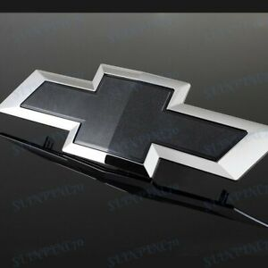 Black Front Grill Bowtie Emblem For 2014 2015 Gm Chevy Silverado