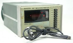 Boonton 92bd Rf Power Milli volt Meter 10khz To 1 2 Ghz Tested