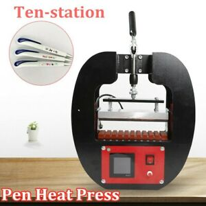 Pen Heat Press Machine Sublimation For Diy 10pc Ball point Transfer Printing