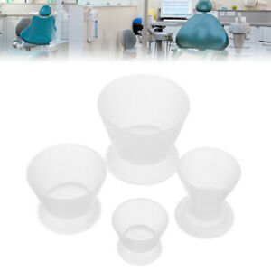 4pcs Dental Lab Non stick Flexible Silicone Dappen Dish Mixing Bowl Cup Set Us