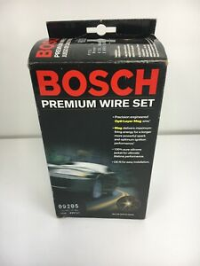 Bosch 09205 Ignition Spark Plug Wire Set For Nissan 4 Cyl Engine 5 Wires In Box