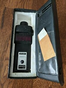 Shimpo Dt 207 Hand Digital Tachometer With Case