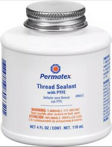 Permatex 80632 Thread Sealant Liquid 4 Oz With Ptfe Brush Top Can Made In Usa