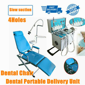 Dental Portable Delivery Cart Unit Chair Compressor Handpiece Tube Suction 4hole