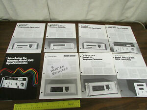8 Assorted Wavetek Electronic Test Equipment Brochures 3000 Signal Generator O