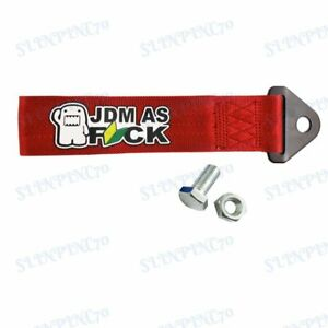 Car Tow Strap Cool For Jdm As Fck Racing Drift Rally Towing Belt Hook New Red