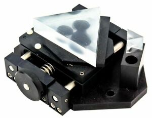 Industrial Optomechanic Laser Beam Guide Splitter Mounted Dual Prism Assembly