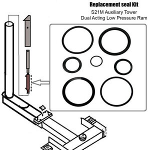 Replacement Chief 21m Auxiliary Tower Ram Seal Kit Dual Acting Rams