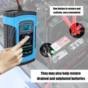 12v 6a Repair Battery Charger For Car Motorcycle Agm Gel Wet Lead Acid Lcd