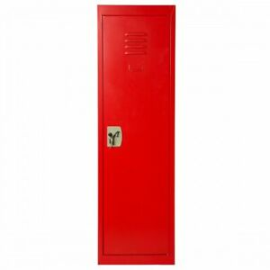 Red Color Metal Home And School Storage Locker Dual locking Mechanism 1 pc