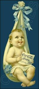 1904 Coca-Cola Gum Die Cut Store Counter Standup Sign Coke Baby Repro