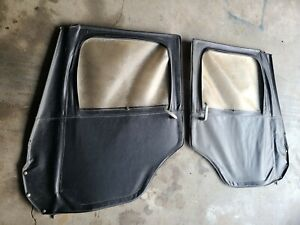 Jeep Willys Cj5 55 75 Pair Of Full One Piece Soft Doors Good Condition
