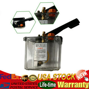 Manual Lubricating Oil Pump Hand Lubrication 1l Cnc 4mm Double Outlet Port 600cc