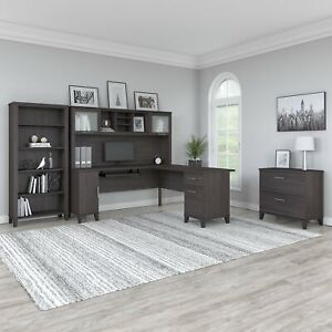 Bush Furniture Somerset 72w L Shaped Desk With Hutch Lateral File Cabinet And B
