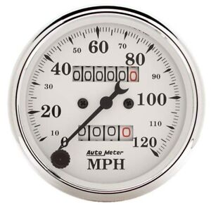Autometer 1693 Old tyme White Air core Mech Speedometer 3 1 8