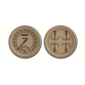 Classic Instruments Ct47vt62 Pickup Gauge Sets 47 53 Gm Beige