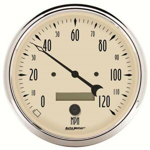 Autometer 1889 Antique Beige Air Core Speedometer Gauge