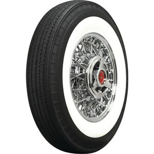 Coker 760r15 American Classic Bias Look Radial 3 25 In White Wall Tire