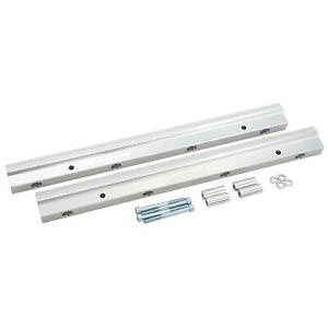 Edelbrock 3649 Fuel Injection Rail 8 An Clear Big Block Chevy