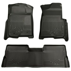 98331 Husky Liners Floor Mats Front New Black For F150 Truck Ford F 150 09 14