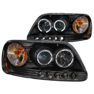 111031 Anzo Headlight Lamp Driver Passenger Side New For F150 Truck Lh Rh Ford