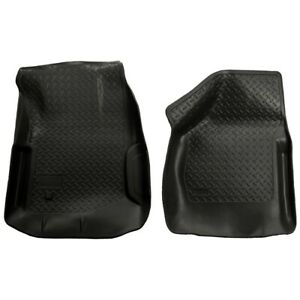 33851 Husky Liners Floor Mats Front New Black For F250 Truck F350 Ford 2000 2007