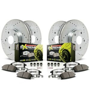 K1548 26 Powerstop 4 wheel Set Brake Disc And Pad Kits Front Rear New