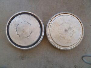 1970 s Ford 1 2 Ton Pickup Truck Poverty Dog Dish Hubcaps Set Of 2