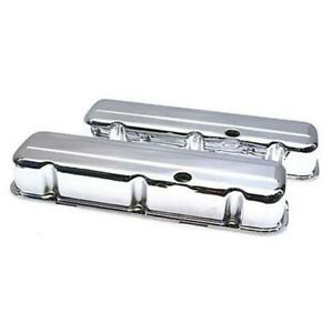 Speedway Bbc 396 402 427 454 Tall Chrome Plated Valve Covers Big Block Chevy