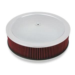 Holley 120 4140 4150 Drop Base Air Cleaner 4 Inch Red Filter