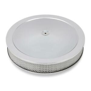 Holley 120 4135 4150 Chrome Drop Base Air Cleaner 3 Inch Paper