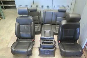 2014 2016 Chevrolet Silverado 1500 Front Rear Seat Set Leather Oem