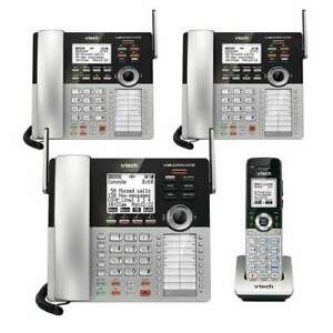 Telephone System Vtech 4 line Small Business Phone System Office Or Home Bundle