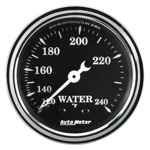 Autometer 1733 Old Tyme Black 2 1 16 Water Temp mechanical